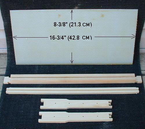 a pierco plastic foundation and an unassembled wooden frame